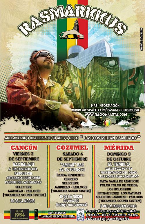 Rasmarkkus en el Caribe mexicano
