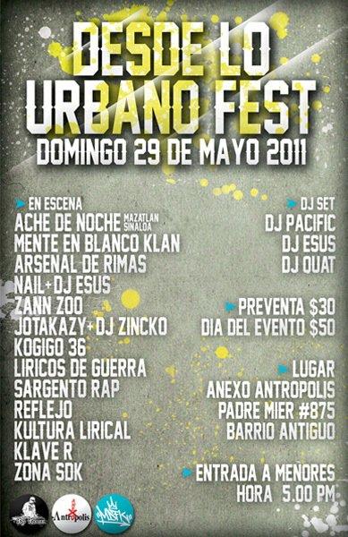 Desde Lo Urbano Fest en MTY