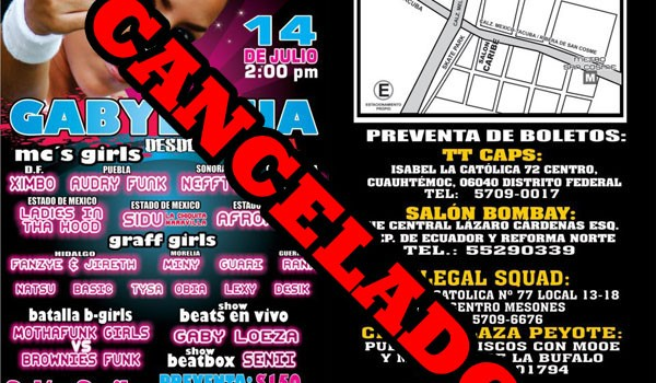 Gabylonia en Mexico DF Cancelado