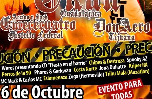 Aczino, Jack, Don Aero, C-Kan en Obregon, Sonora (6 de OCtubre 2012)