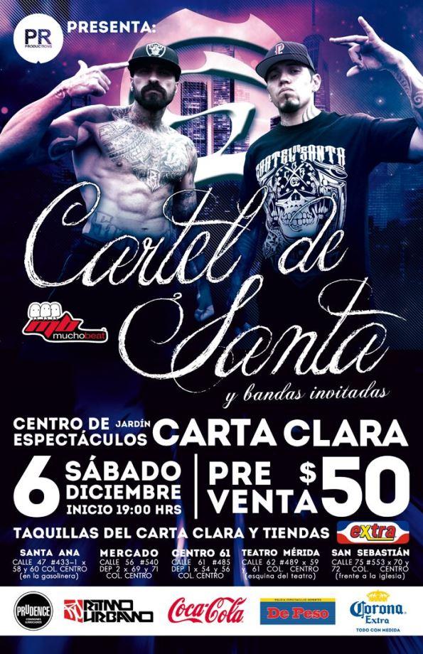 Cartel de Santa en Mérida (Sábado 6 de Diciembre 2014) | Ritmo ...